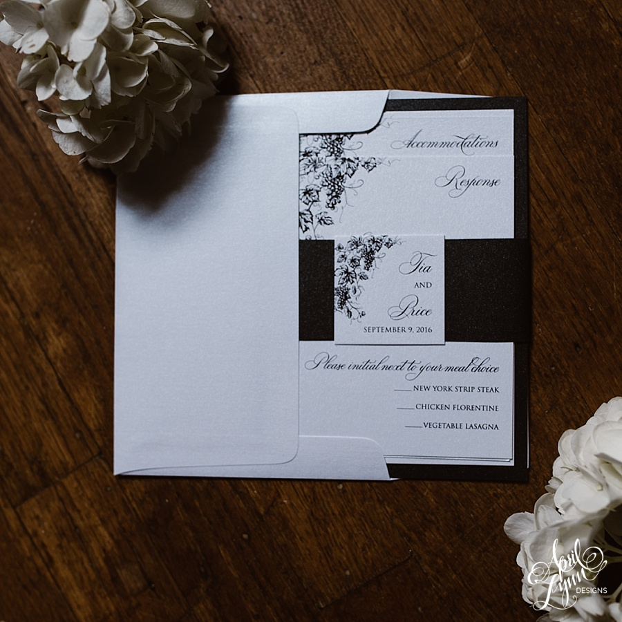 April_lynn_designs_tia_price_wine_themed_wedding_invitations_bear_creek_mountain_resort_macungie_pennsylvania_black_white_layered_invitation_4267 1
