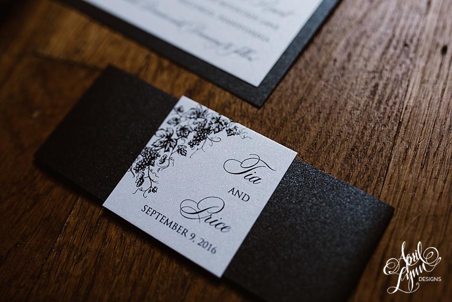 Price Of Wedding Invitations: Tia + Price's Wine-Themed Wedding Invitation Suite