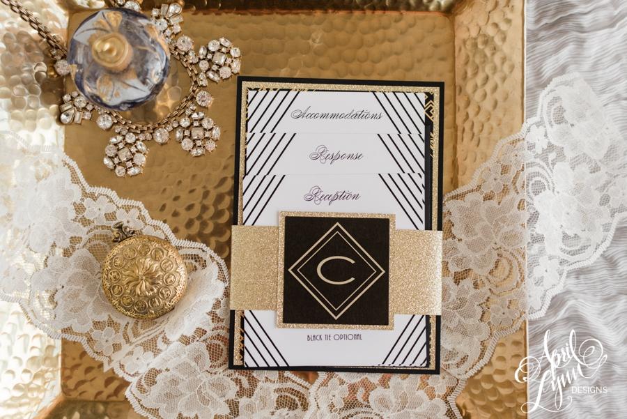 April_Lynn_Designs_Angela_Ian_Gatsby_Art_Deco_Philadelphia_Wedding_Invitation_Gold_Foil_Black_Cathedral_Basilica_Ballroom_at_the_Ben_Fall_Wedding
