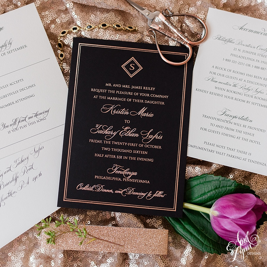 by now you have likely realized how much i love working with couples celebrating their new union at any one of cescaphe event groups venues - Rose Gold Wedding Invitations