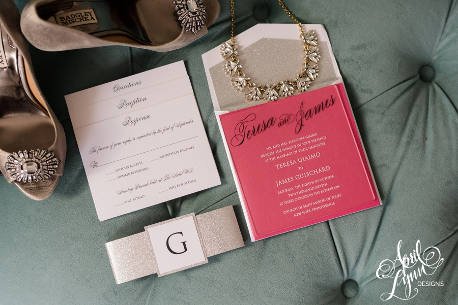April_Lynn_Designs_Teresa_Jim_Acrylic_Wedding_Invitation_Silver_Glitter_The_Merion_New_Jersey_Wedding