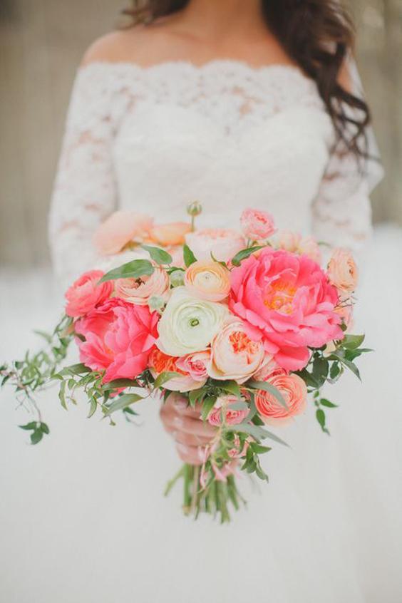Coral Charm Peony Wedding Bouquet | www.aprillynndesigns.com