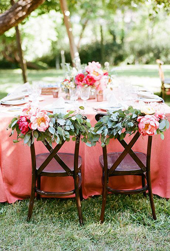 Coral Charm Peony Wedding Table Setting | www.aprillynndesigns.com