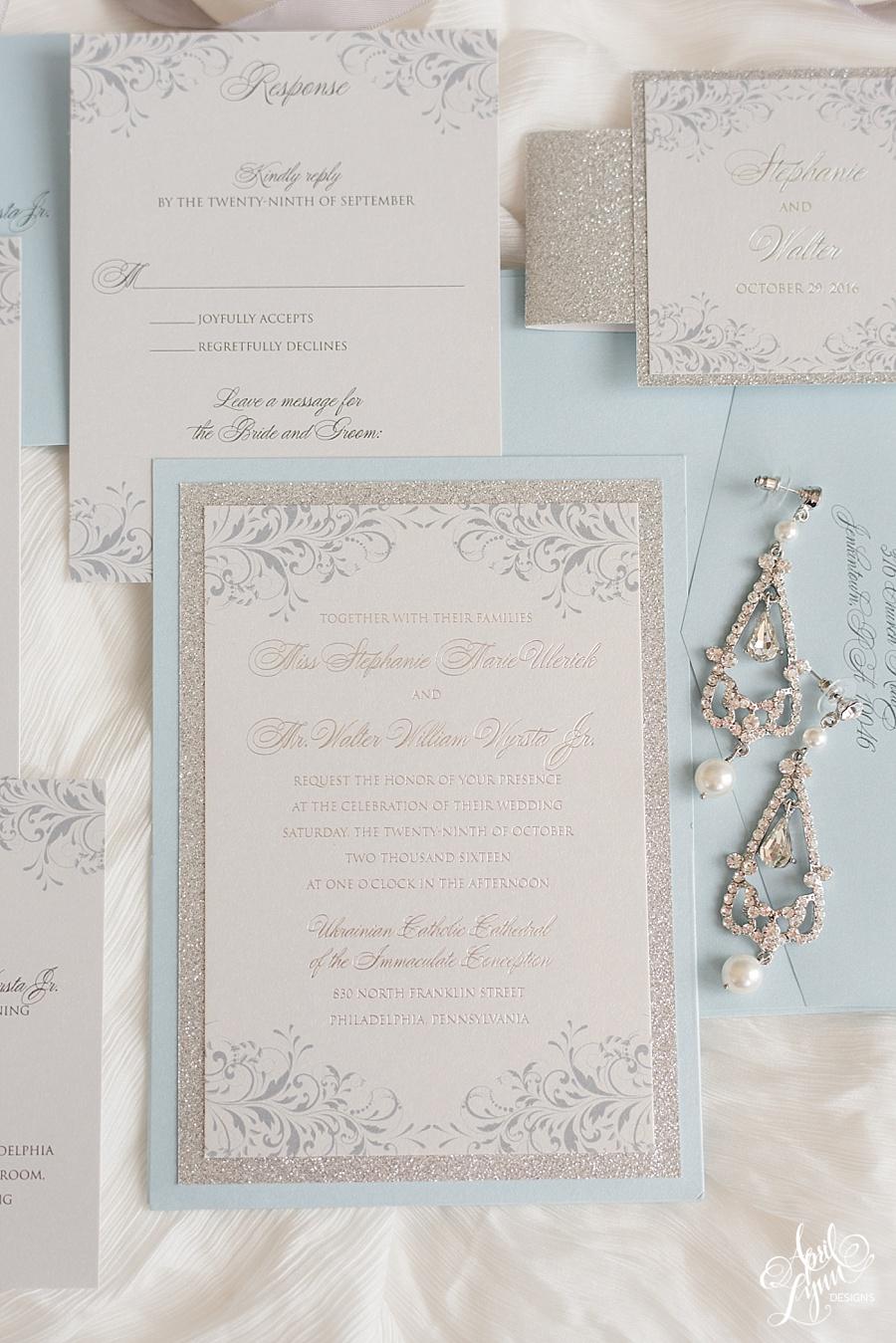 April_Lynn_Designs_Stephanie_Walter_Philadelphia_Pennsylvania_Wedding_Slate_Blue_Silver_Wedding_Invitation_Suite_Silver_Foil_Cescaphe_Event_Group_Tendenza