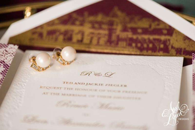 Classic wedding invitation designed by April Lynn Designs | www.aprillynndesigns.com