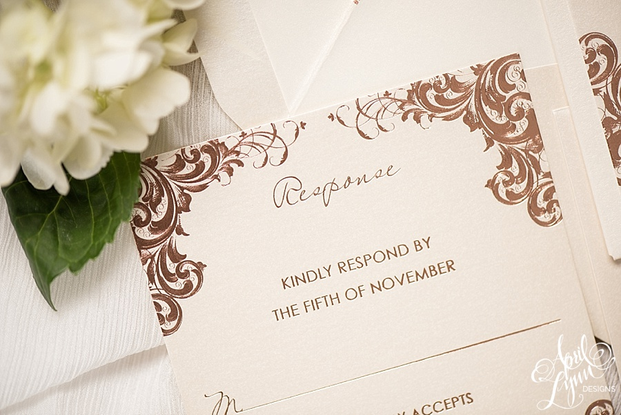 Rose Gold Foil Philadelphia Wedding Invitation | www.aprillynndesigns.com