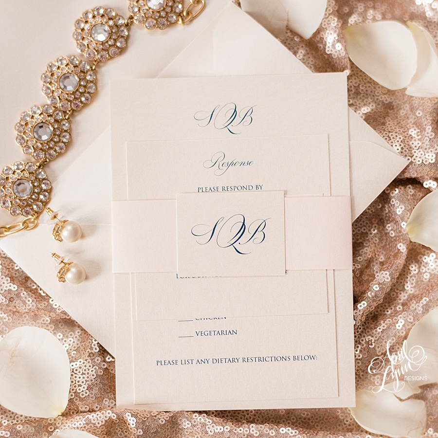 Classic Monogram Wedding Invitation Suite | www.aprillynndesigns.com