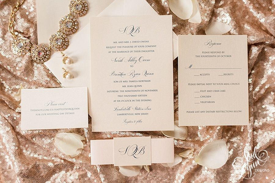 Classic Monogram Wedding Invitation Suite | www.aprillynndesigns.com