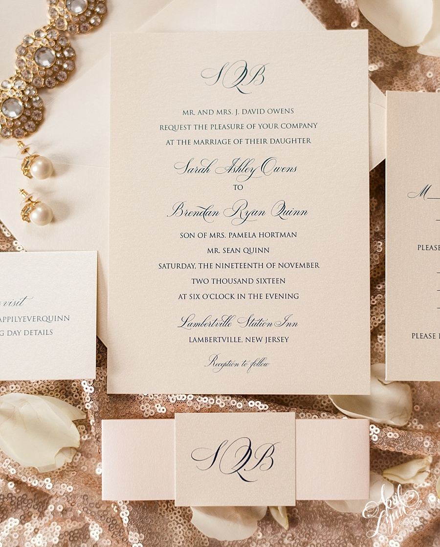 Sarah brendans traditional monogram wedding invitation suite classic monogram wedding invitation suite aprillynndesigns stopboris Image collections
