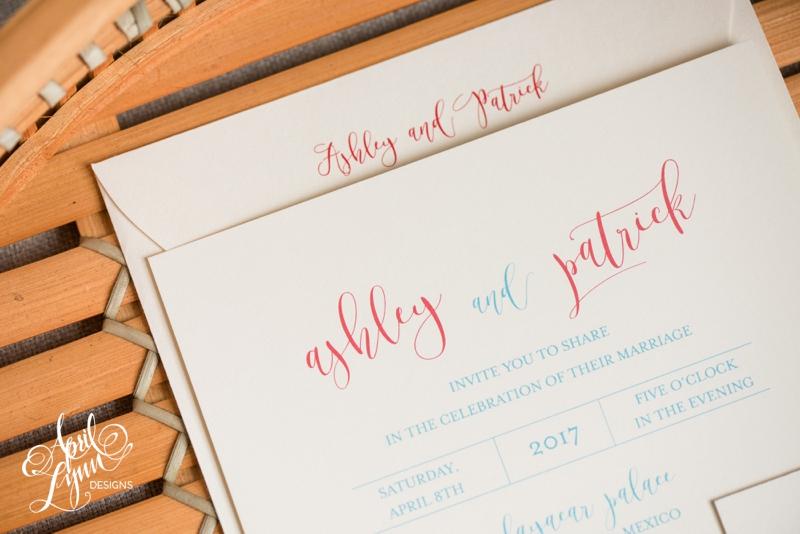 Ashley and Patrick's Riviera Maya Destination Wedding Invitation Suite | www.aprillynndesigns.com