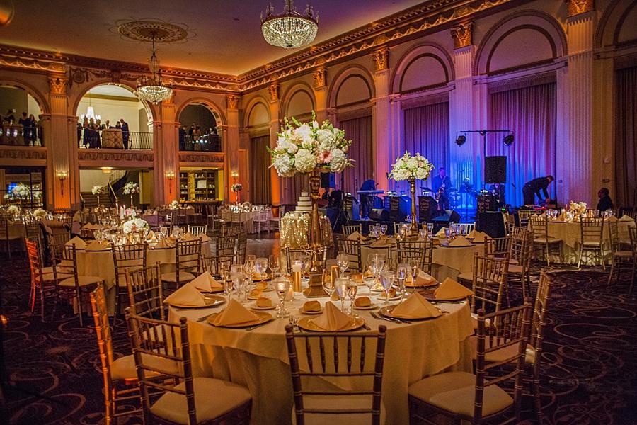 Glamorous Blush and Pink Ballroom at the Ben Wedding in Philadelphia | www.aprillynndesigns.com