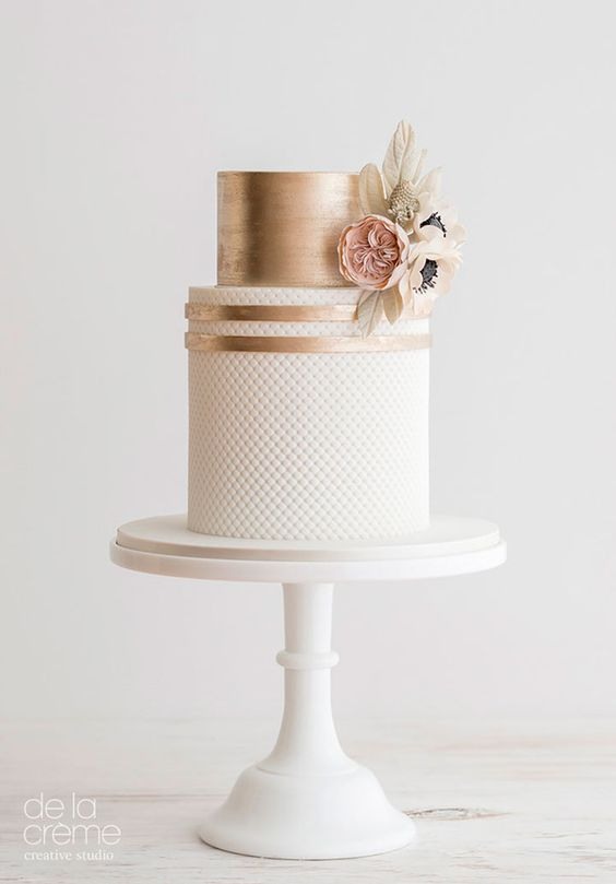 2018 Wedding Trend: Rose Gold and Navy Color Palette | www.aprillynndesigns.com