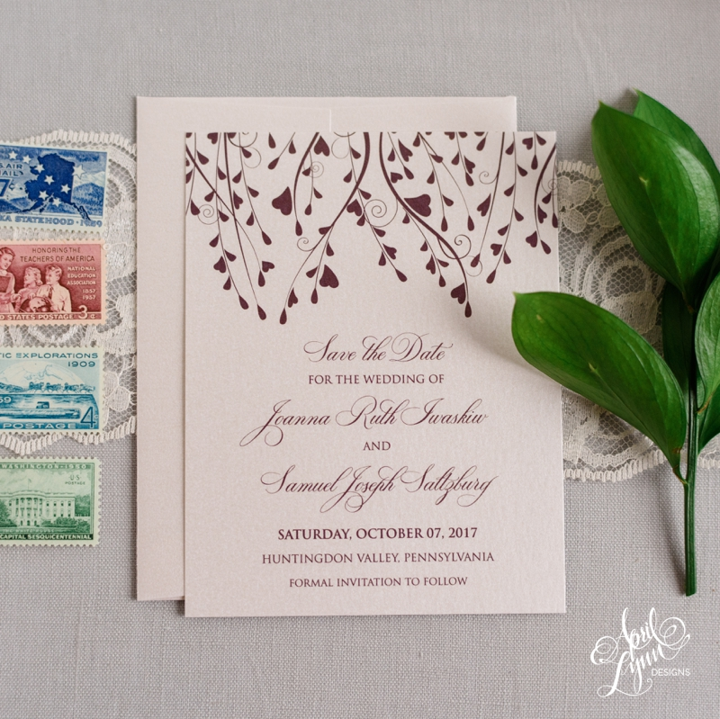 Fall Inspired Save the Date | www.aprillynndesigns.com