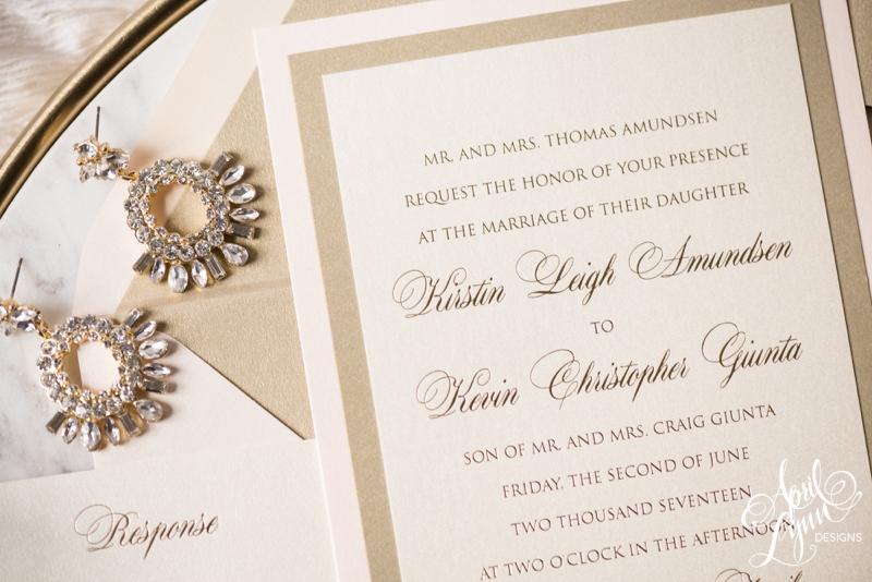 Luxury Classic Wedding Invitation Suite | www.aprillynndesigns.com