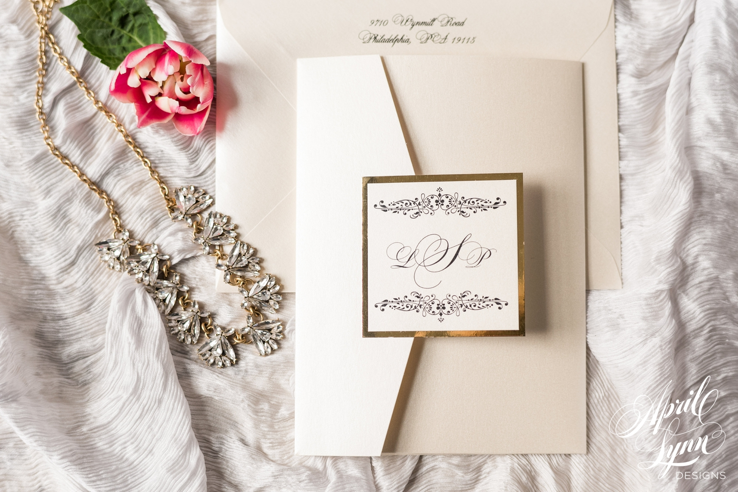 Classic Pocketfold Wedding Invitation Suite | www.aprillynndesigns.com