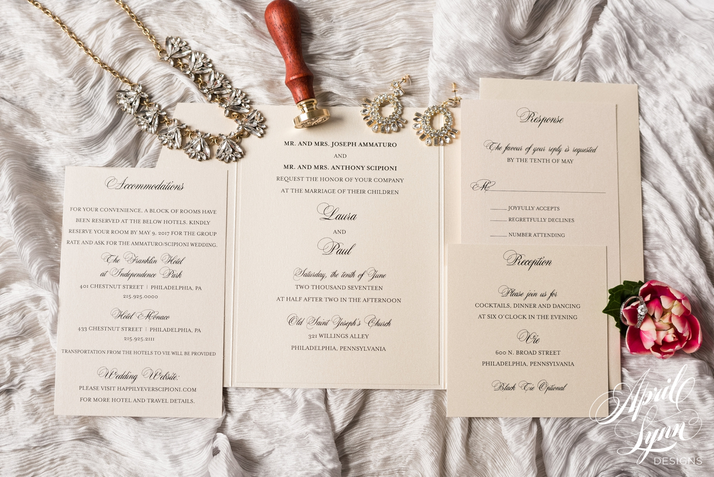 Classic Pocketfold Wedding Invitation Suite | www.aprillynndesigns.com