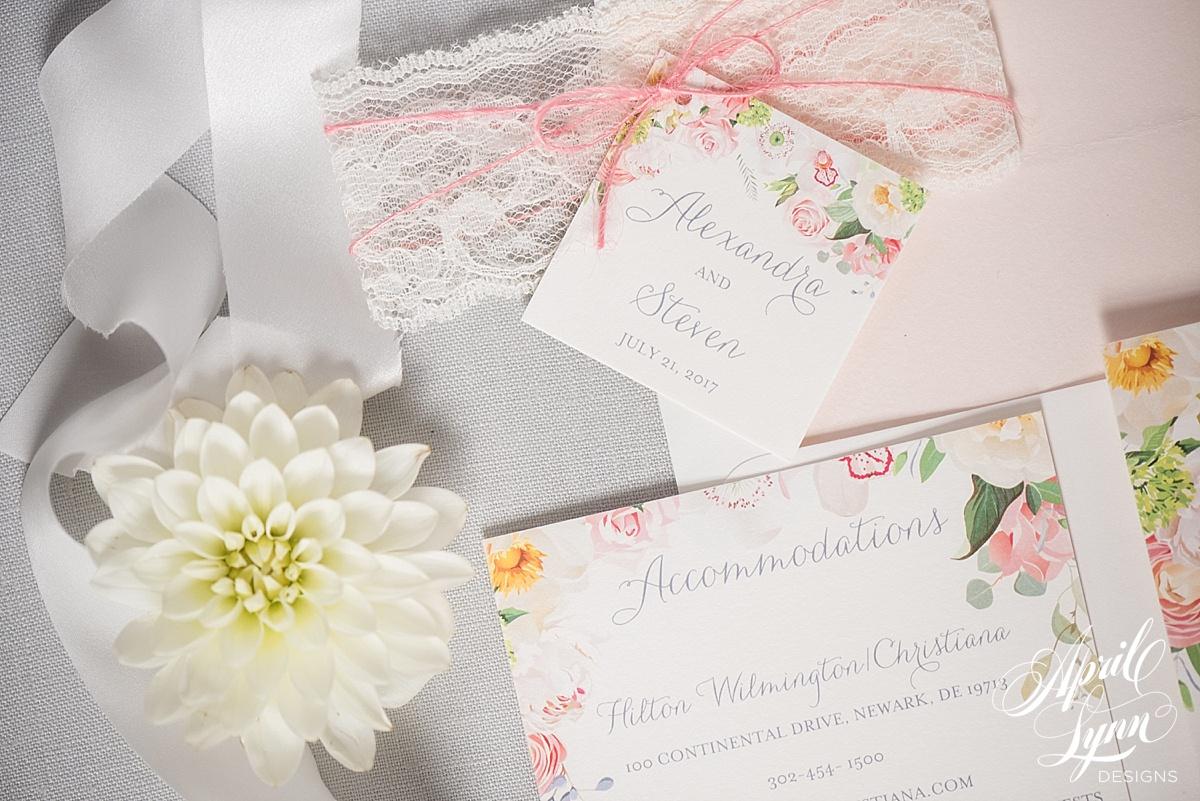 Rustic Chic Floral Wedding Invitation   www.aprillynndesigns.com