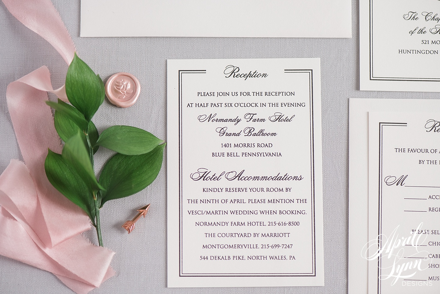 Classic Wedding Invitation Suite | www.aprillynndesigns.com
