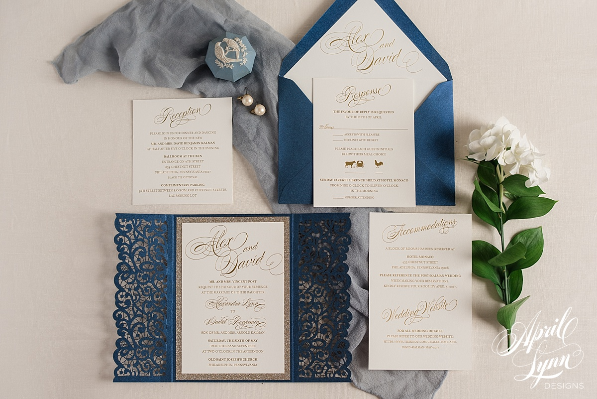 Philadelphia Style Magazine Wedding Invitation Feature | www.aprillynndesigns.com
