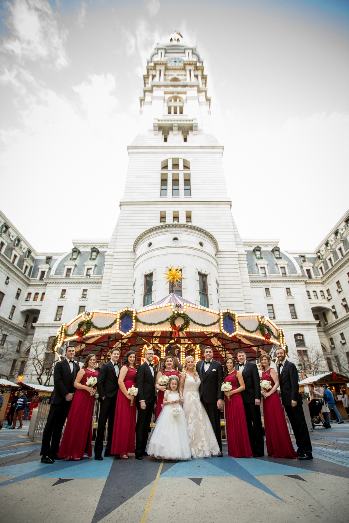 Philadelphia Winter Wedding at Sky Philadelphia | www.aprillynndesigns.com
