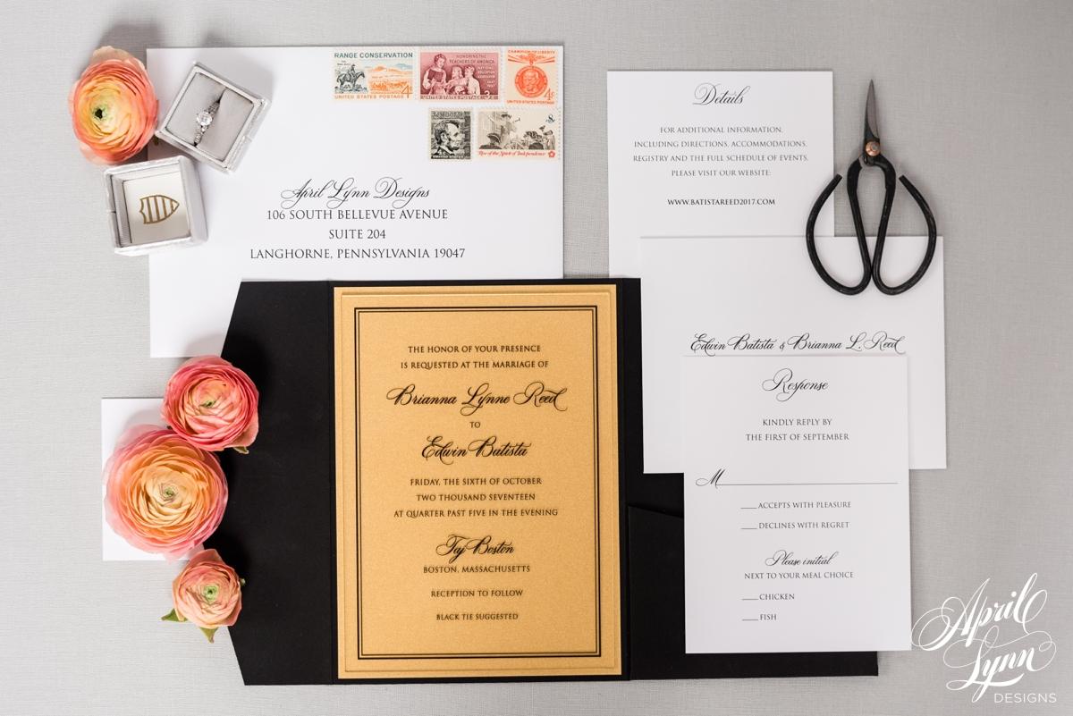 Luxury Acrylic Wedding Invitation Suite | www.aprillynndesigns.com