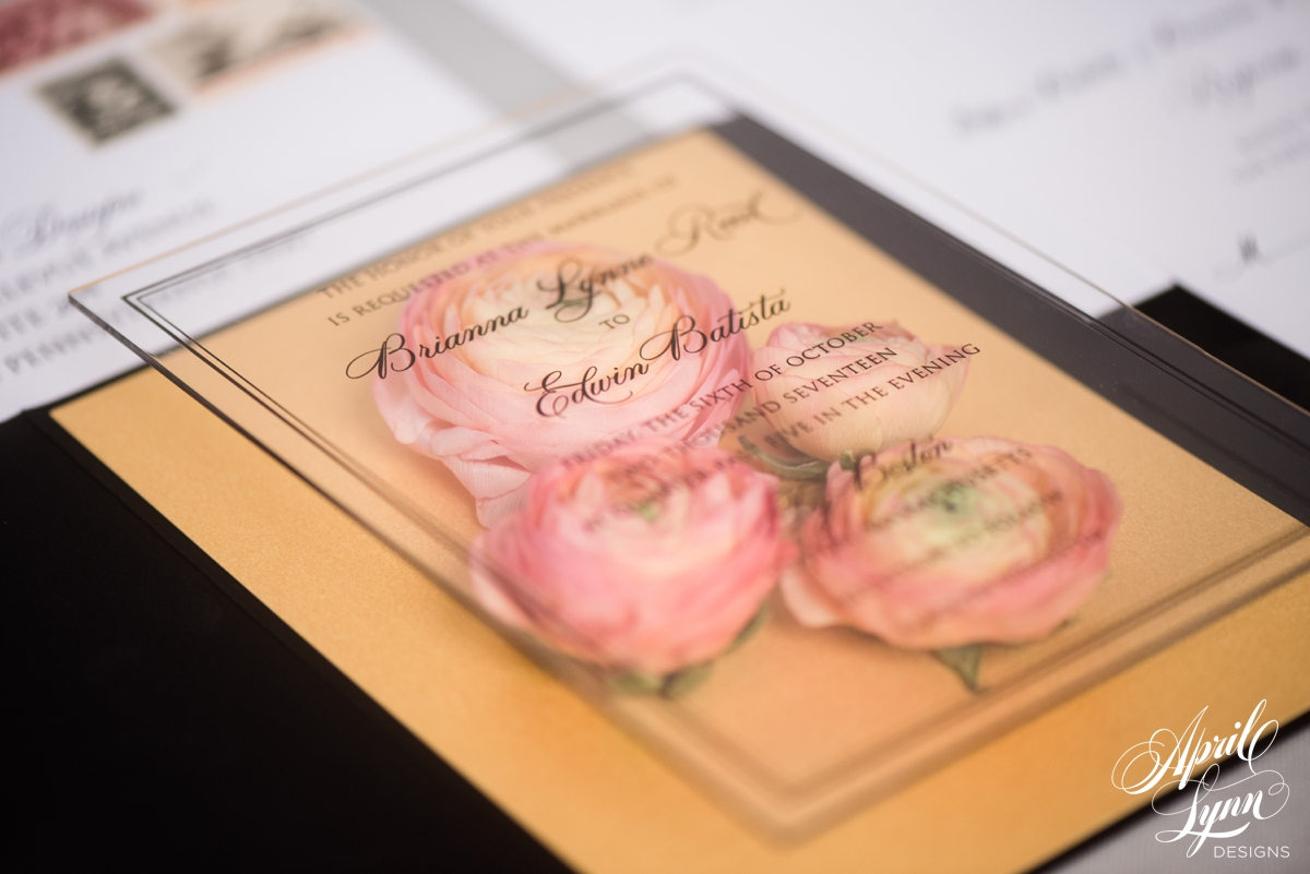 Luxury Acrylic Wedding Invitation Suite | www.aprillynndesigns.com
