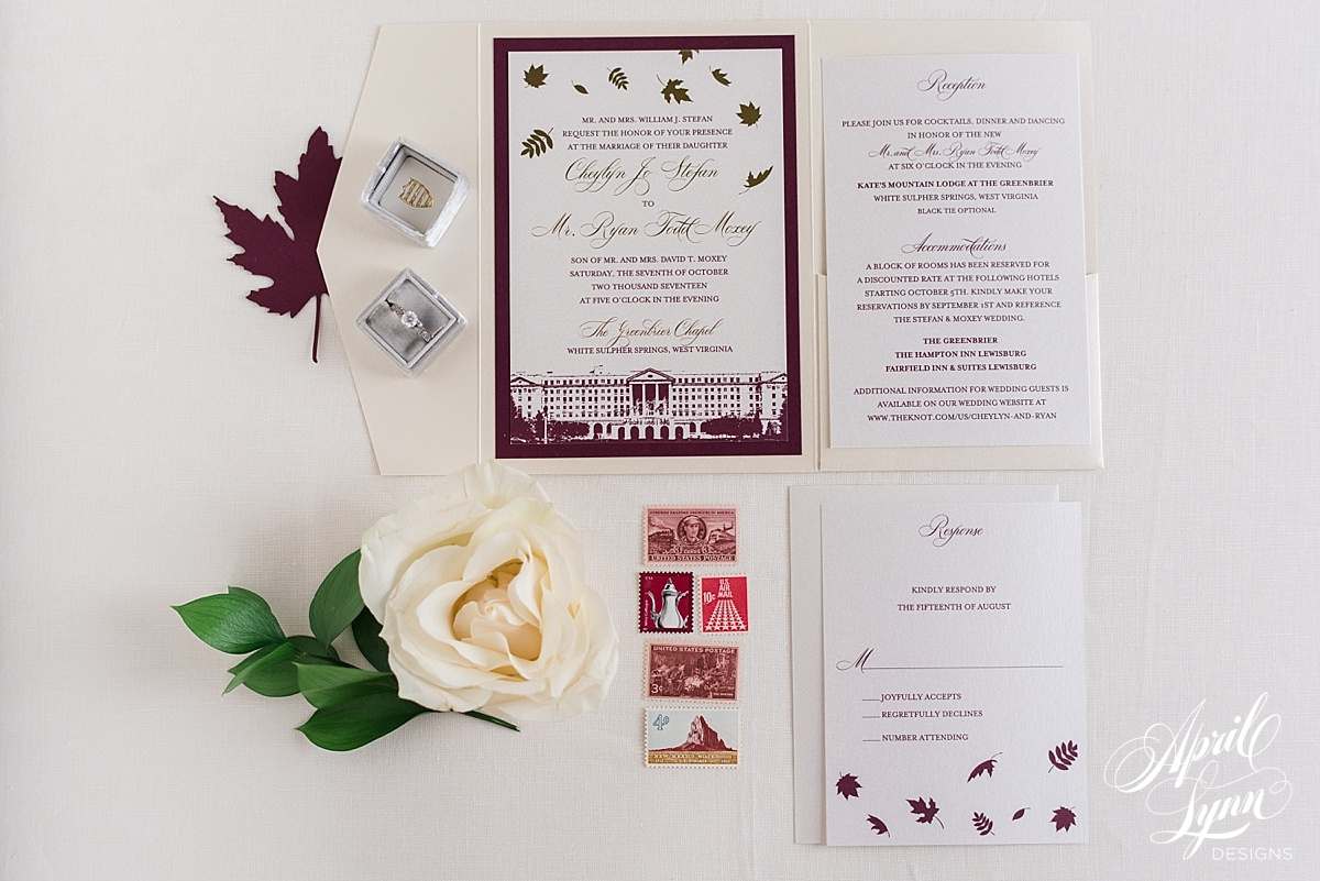 Cheylyn + Ryan\'s Luxury Fall Themed Pocketfold Wedding Invitation ...