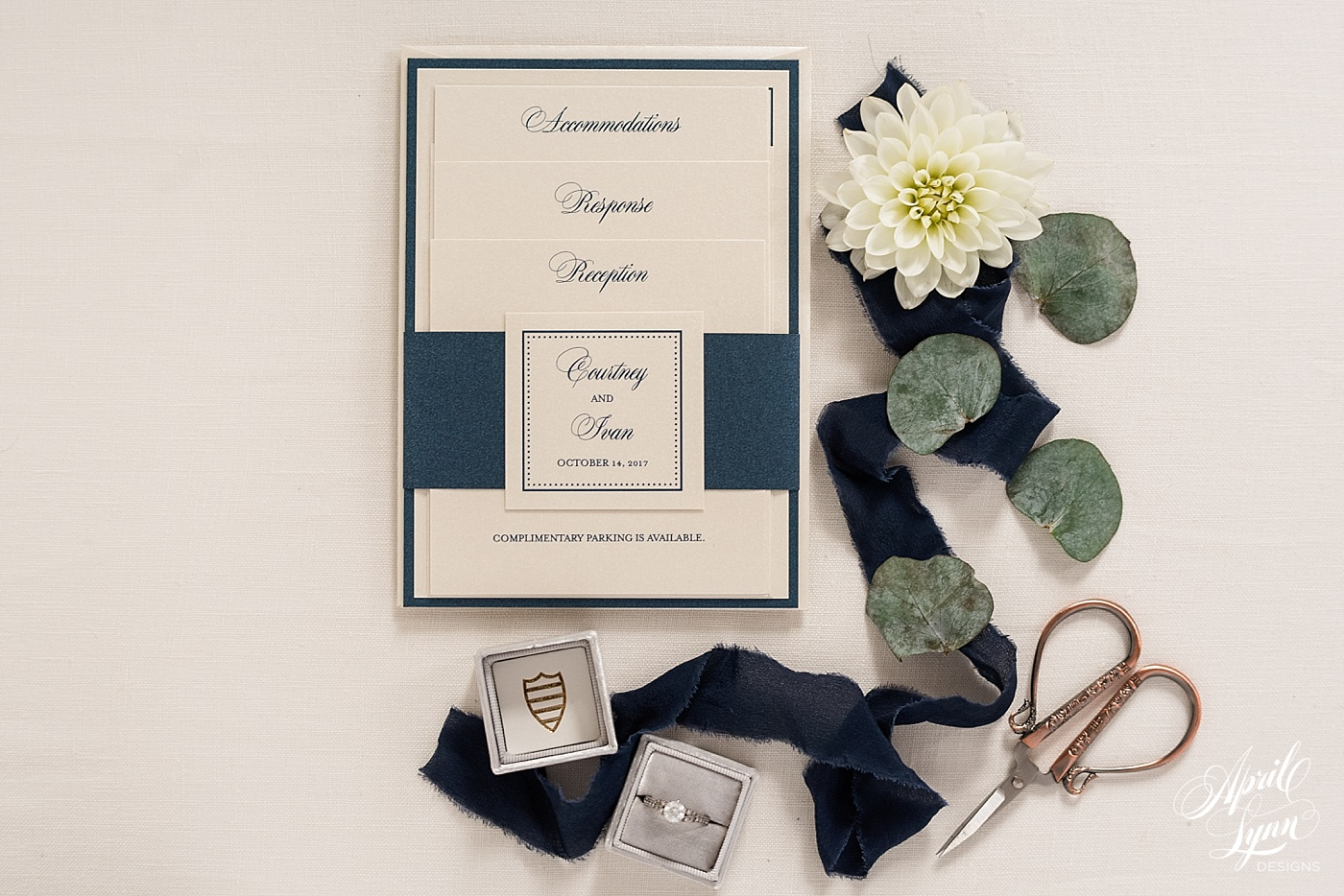 Layered Wedding Invitation | www.aprillynndesigns.com