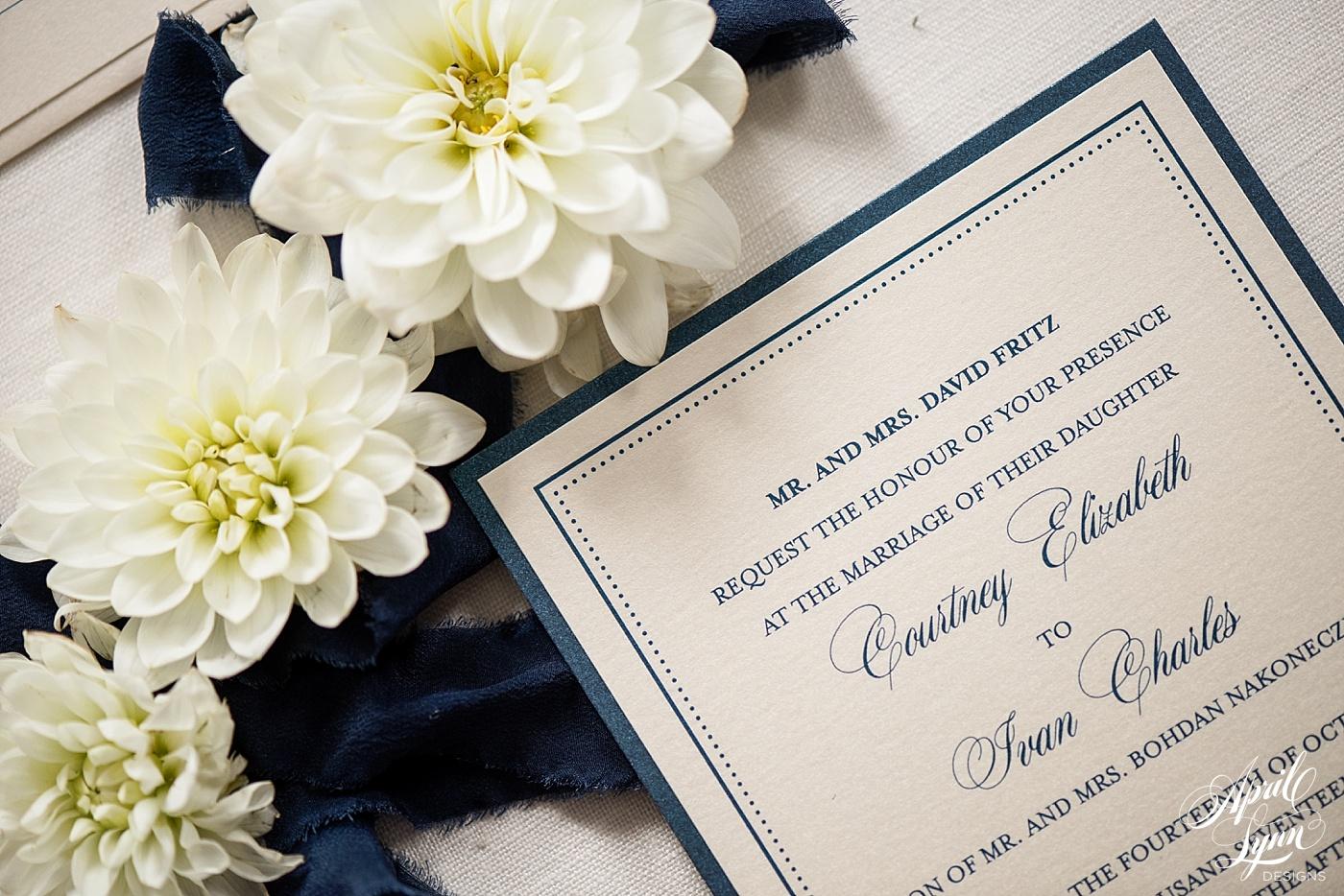 Layered Wedding Invitation   www.aprillynndesigns.com