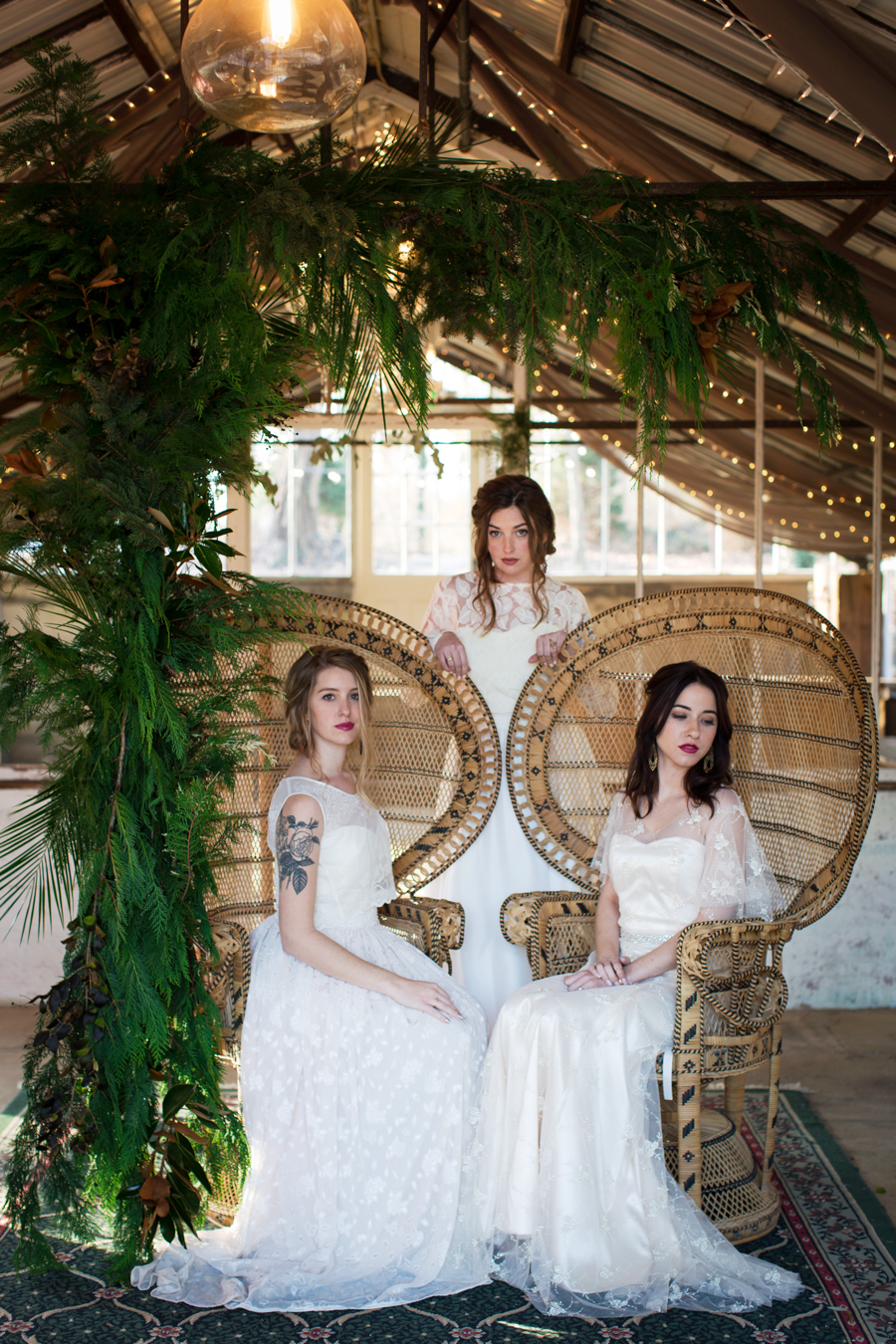 Winter Bohemian Greenhouse Bridal Inspiration | www.aprillynndesigns.com