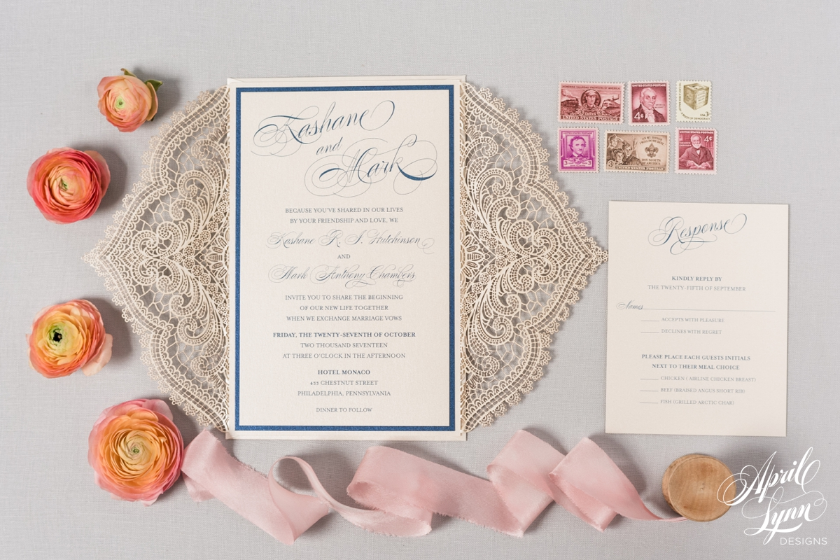 Elegant Laser Cut Wedding Invitation | www.aprillynndesigns.com