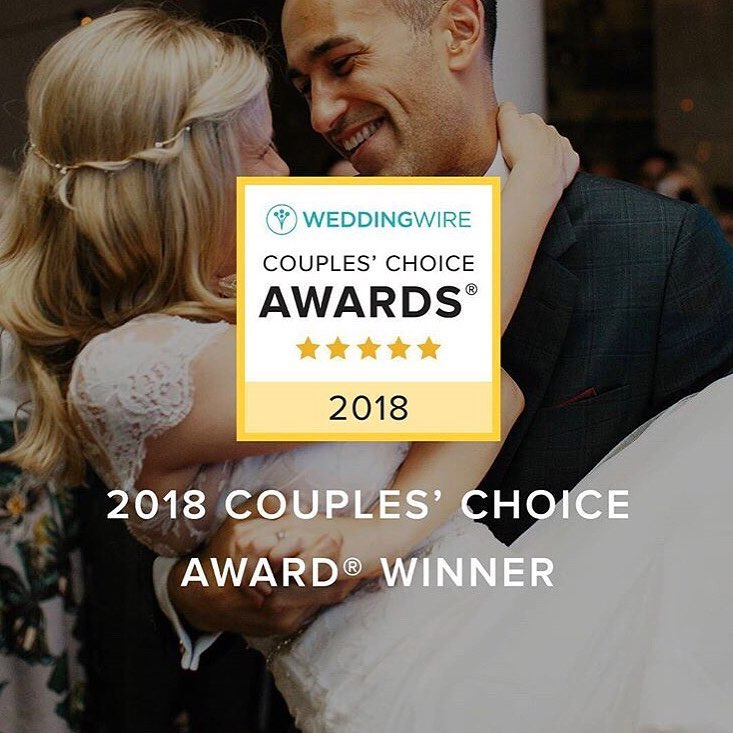 WeddingWire Couples' Choice Award 2018 | www.aprillynndesigns.com