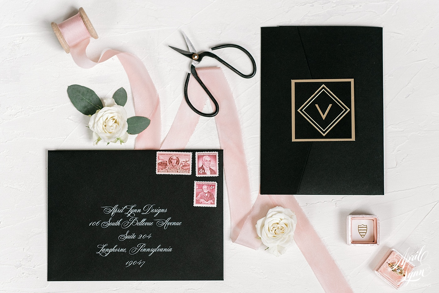 Great Wedding Invites: Lexi + Shawn's Luxury Great Gatsby Wedding Invitation