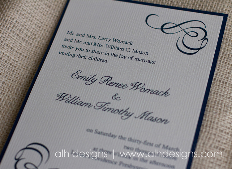 Letterpress The Printing Type In Wedding Invitations
