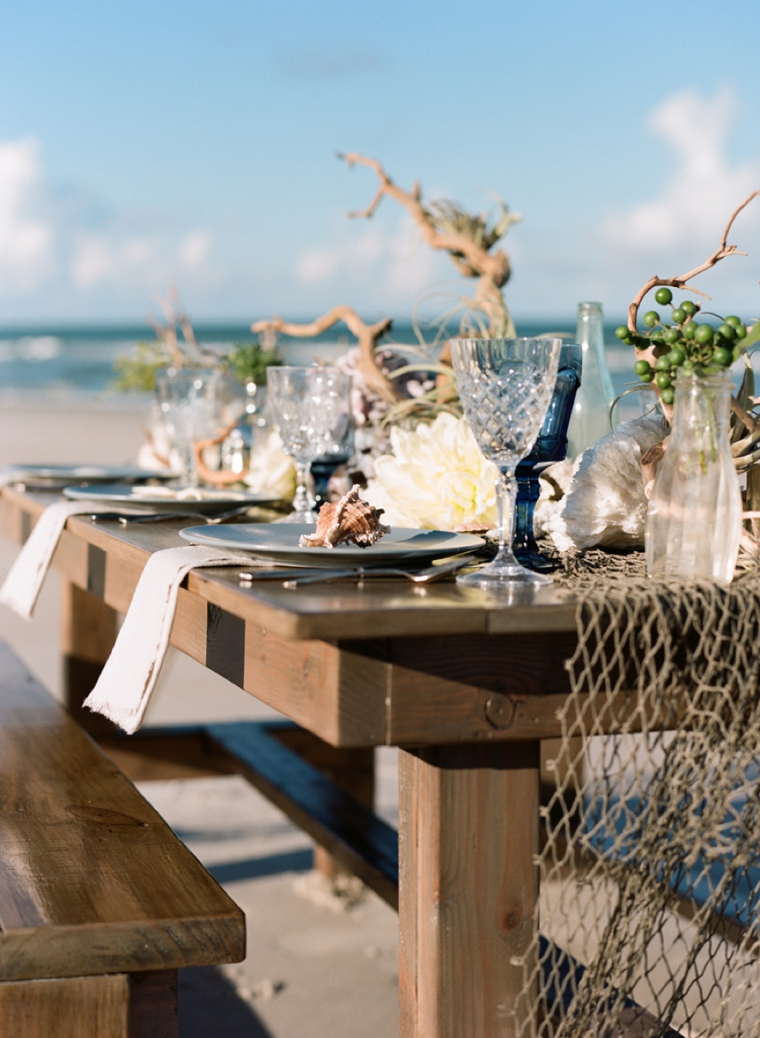 beach theme wedding decor treasury of the sea styled shoot featured on floridian 1547