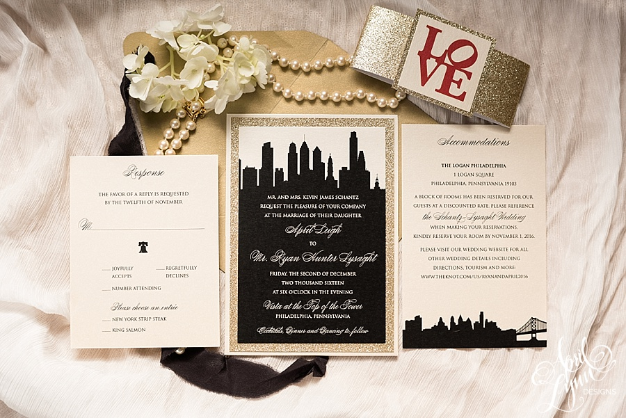 Philadelphia Gold Glam Wedding Invitation Suite Www Aprillynndesigns